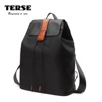 TERSE_ 2017 New Canvas Backpack Female Men Fashion Trend Personality Youth Leisure Travel Large Capacity School Bag Black 596