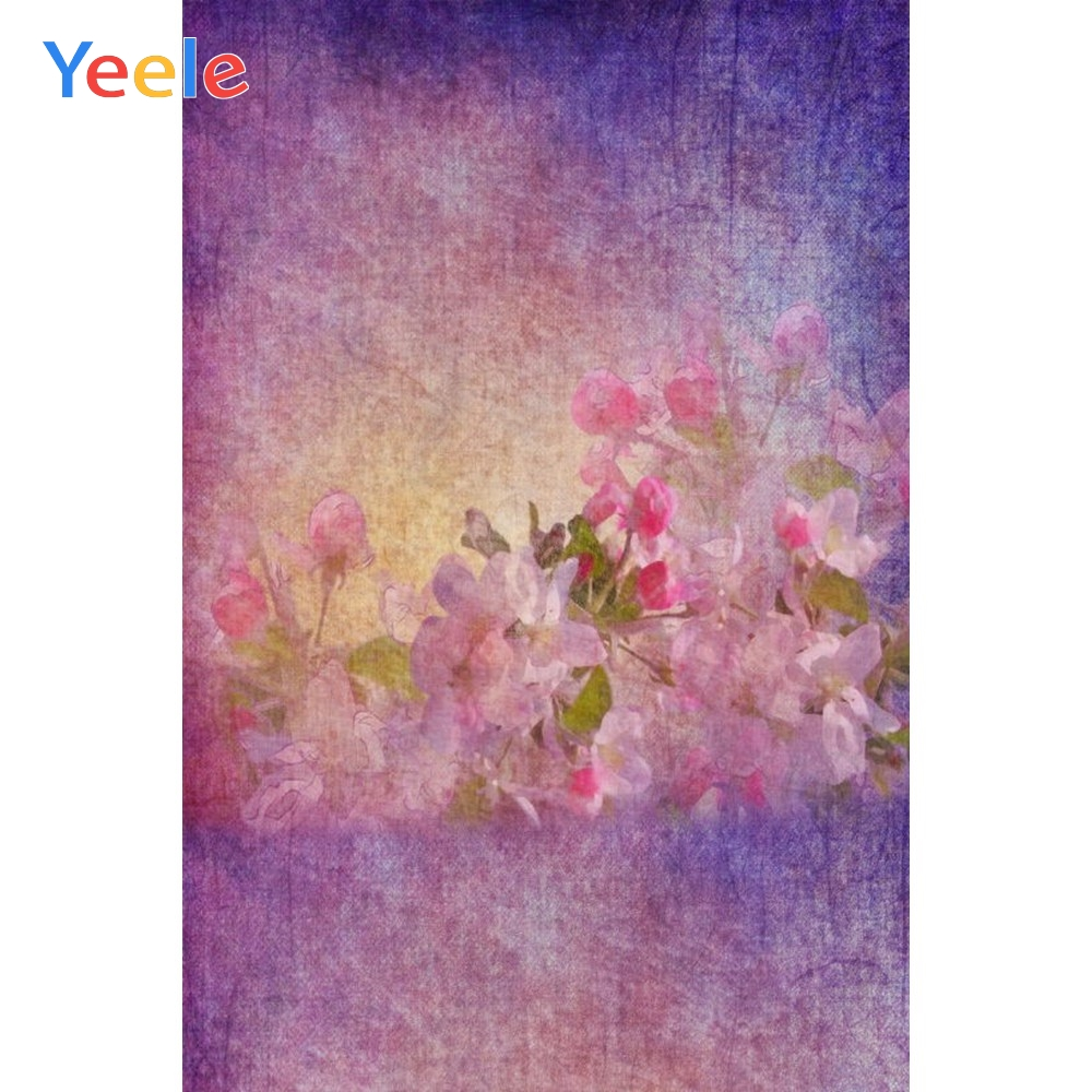 Yeele Vinyl Purple Flowers Baby Children Birthday Party Photography Background Scene Photographic Backdrop For Photo Studio