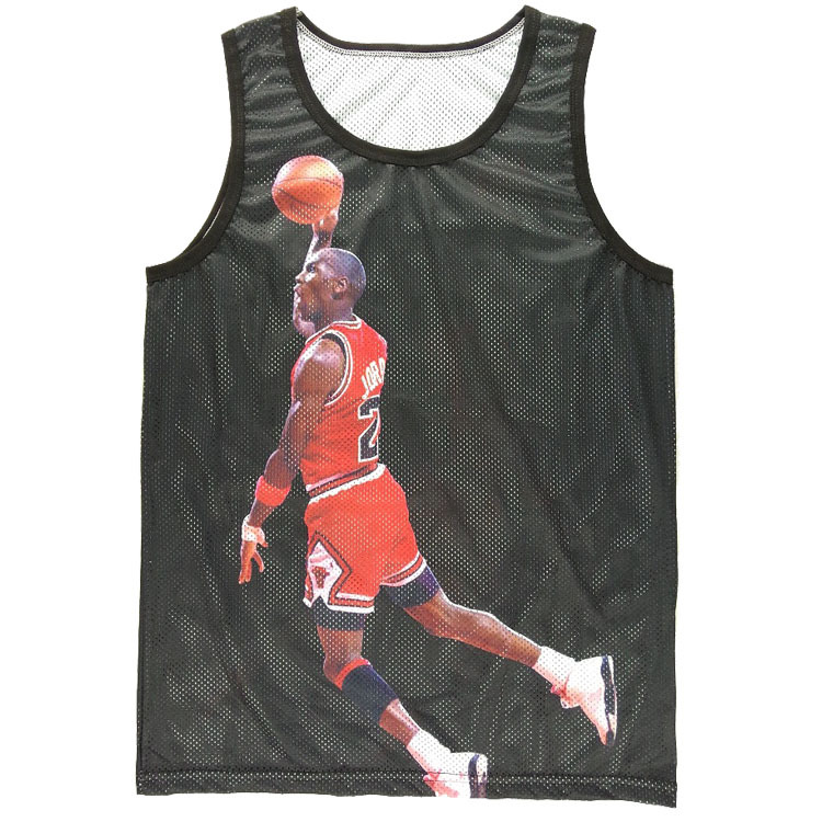 6712fa2edb42c Hot Style Men Boy Tank Tops 3D Jordan Play Print Nets Vest Sleeveless Tops  MJ Black