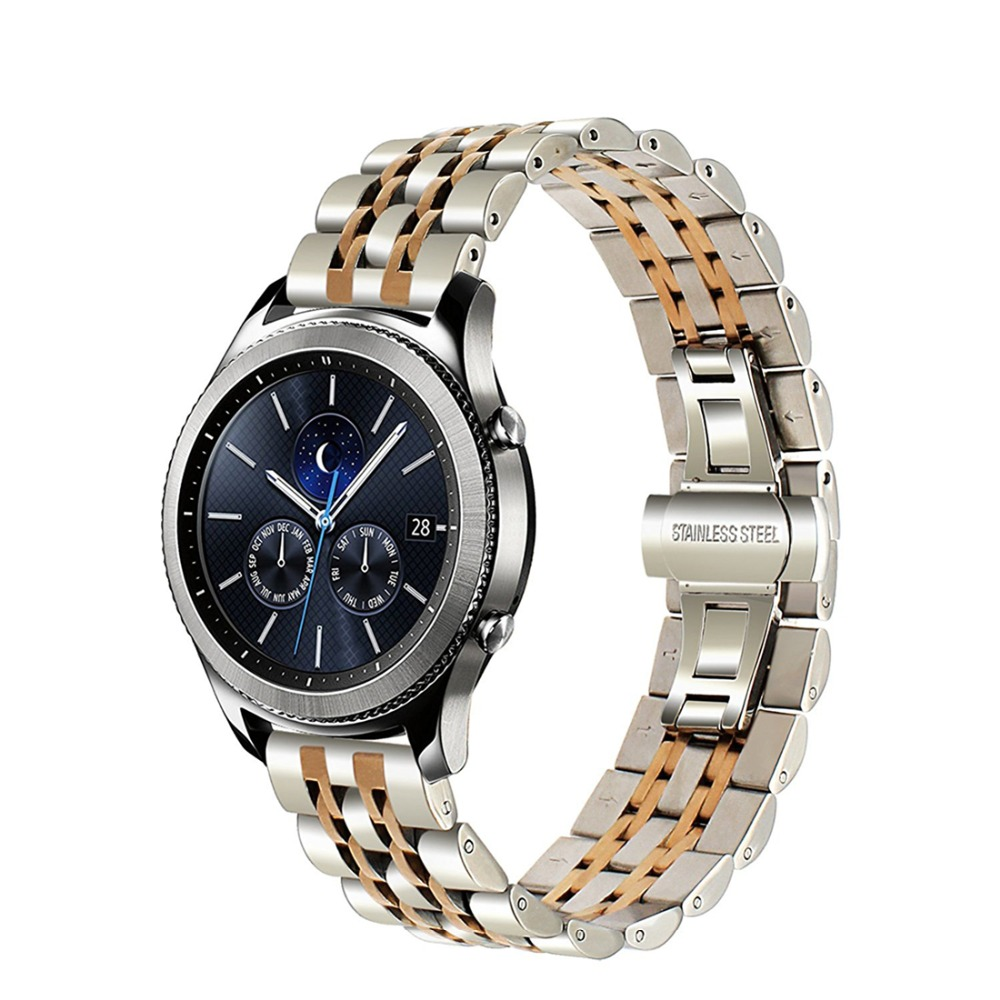 Stainless steel strap for Samsung galaxy watch 46mm Gear S3 Frontier Classic R760 R770 Huami band bracelet wrist belt in Watchbands from Watches