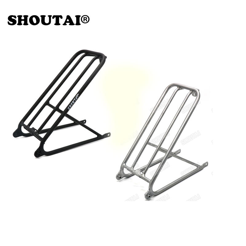 Bicycle Ultra-Light Aluminum Bracket Mini Rack Small Wheel for Brompton Folding Cycling Bike Part bicycle seatpost 31 8 580mm for brompton yr yt folding bike aluminum seat post 345g bike parts
