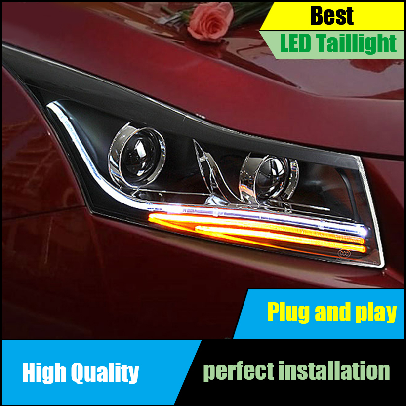 Car Styling for Chevrolet Cruze 2009-2014 Headlight Assembly LED Headlights DRL Lens Double Beam H7 HID Xenon Car Accessories