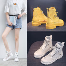 Summer 2019 new short women boots white breathable fashion flat-bottomed Korean version cool female hollow net Yasilaiya