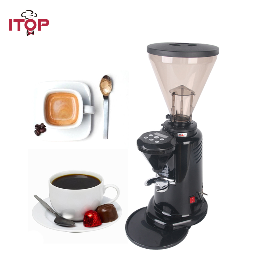 ITOP Commercial Electric Coffee Grinder Italian Coffee Grinder Dry Food Mill Grinding Machine 110V 200V 350W