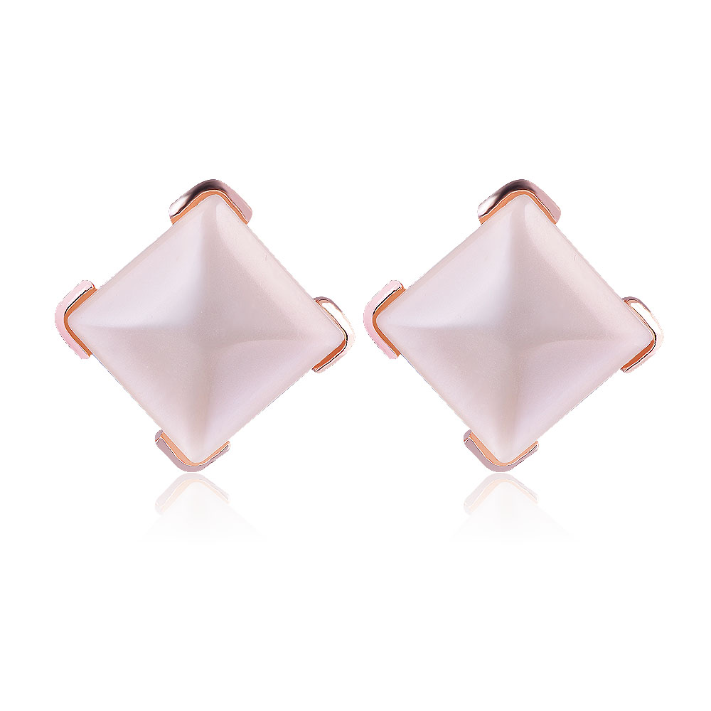 QIYIGE Pearl Earrings Gold Color Sqare Shape Trendy Austrian Crystal Opal For Women Wedding Jewelry Gifts