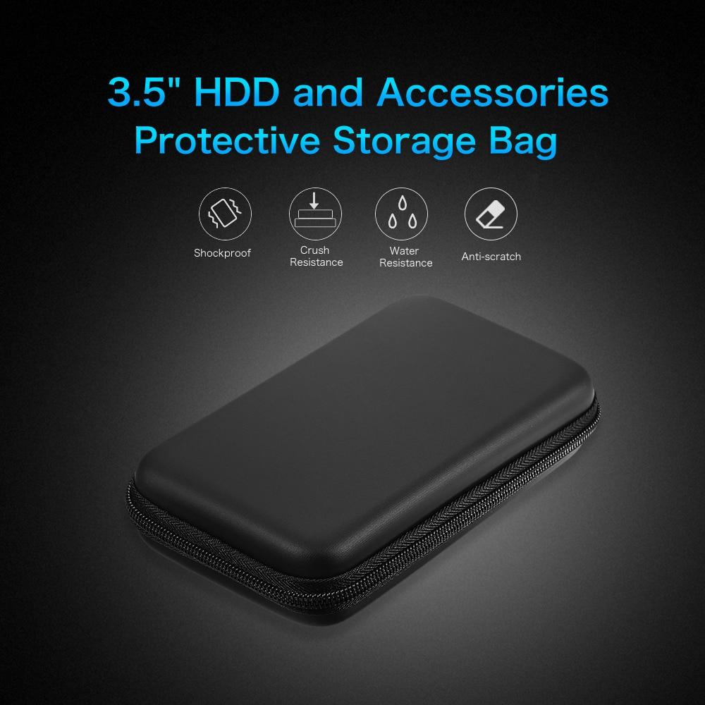 Противоударный чехол EVA для жесткого диска 3,5 дюйма, сумка-Органайзер 3,5 дюйма, портативный внешний жесткий диск, внешний аккумулятор, аксесс...