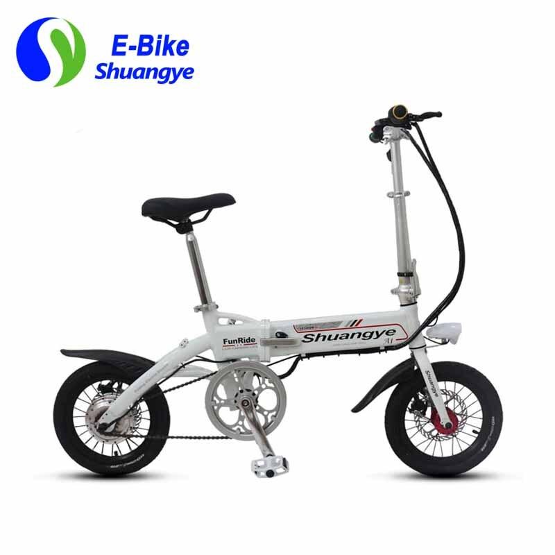6720b969cdee ̿̿̿(•̪ )Shuangye 14  mini pliant électrique vélo de ville avec ...