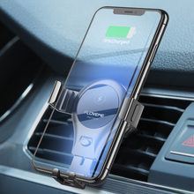 Car Wireless Charger For iPhone Xs X 8 10W Quick Charging Samsung Galaxy S9 S10 Air Outlet Gravity Bracket