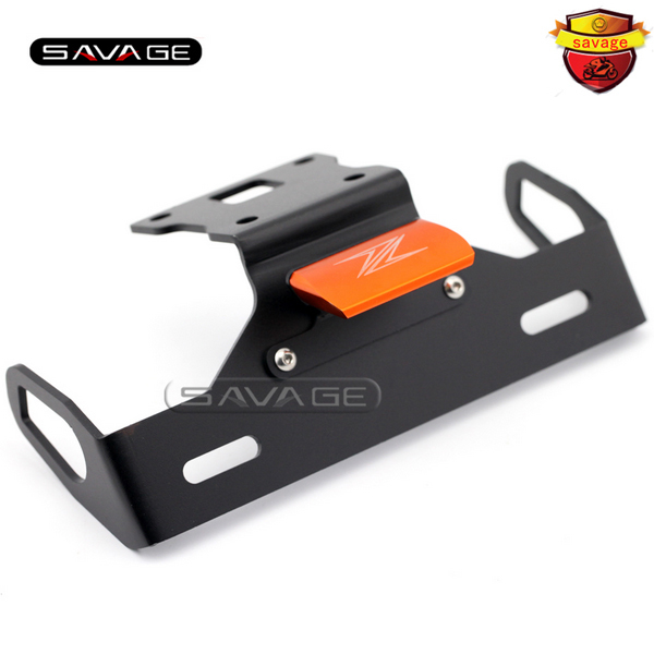 For KAWASAKI Z125 2015-2016 Orange Motorcycle Tail Tidy Fender Eliminator Registration License Plate Holder Bracket LED Light motorcycle tail tidy fender eliminator registration license plate holder bracket led light for kawasaki er6f er 6f 2012 2014 13