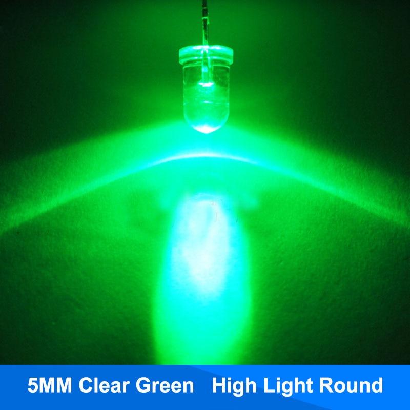 50pcs 3mm Ultra Bright Transparent Clear LEDs Blue Led Diode ship US