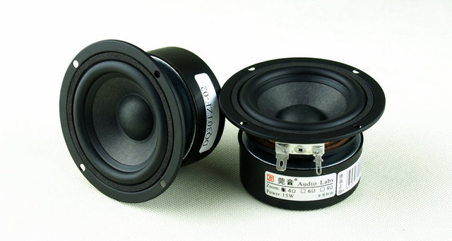 2PCS Audio Labs 3'' Full Range/Frequency Speaker Unit Wool Cone Speaker Shielded Round 4/8ohm D89mm 15W