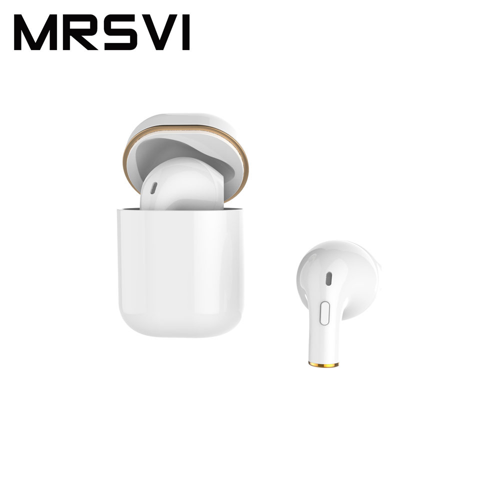MRSVI Bluetooth Headset Mini i8x Stereo Wireless Earphones Portable in Ear compatible for Androids iPhone Microsoft Saipan