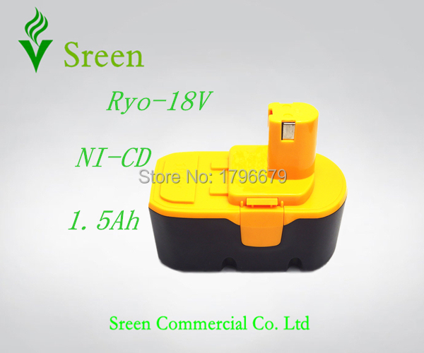New 1500mAh Rechargeable 18V NI-CD Replacement Battery Packs for Ryobi Power Tool Battery ABP1801 ABP1803 BPP-1813 BPP-1815 P100 стоимость