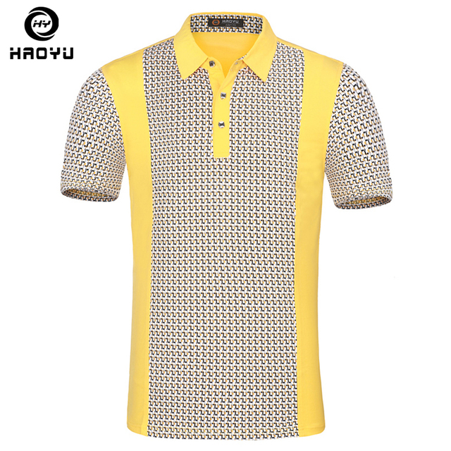 Men's Polo Shirt 100% Cotton Short Sleeves Famous Brand Plaid Contrast Color Anti-Wrinkle Personality Classic Men Polo Shirt