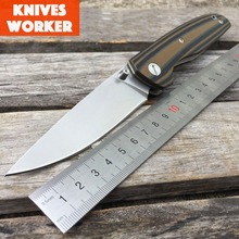 LDT F95 110 Roller Ball Bearing Folding Knife D2 Blade G10 Handle Tactical Knife Camping Survival Pocket Knives Outdoor EDC Tool