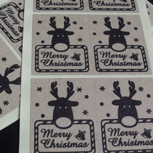 Merry Christmas gift sealing sticker For baking package cake box bags cup decoration label 4cmX3cm
