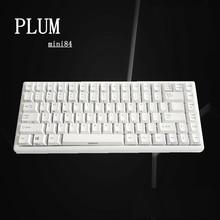 Сливы 84 Белый Механическая игровая клавиатура с белой подсветкой antighosting белый PBT колпачки Mac ОС Windows Android gateron коммутаторы