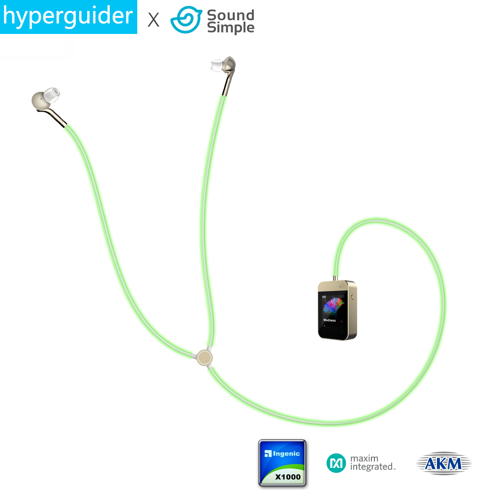 Pre-sell hyperguider Headphone Glow as Music Rhythm WIFI Bluetooth 4.2 Support APP TF Smart Algorithm Professional HIFI with MIC