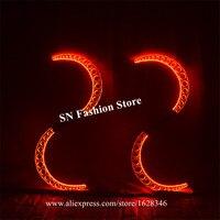 M57 вечерние Танцы костюмы со светодиодами этап подиуме производительности шоу носит реквизит люминесцентный светящийся робот Мужчины ятаг