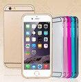 6 colores híbrido dura súper delgada de Metal de aluminio de acrílico cubierta trasera del caso para iPhone5 5S accesorios ECA162