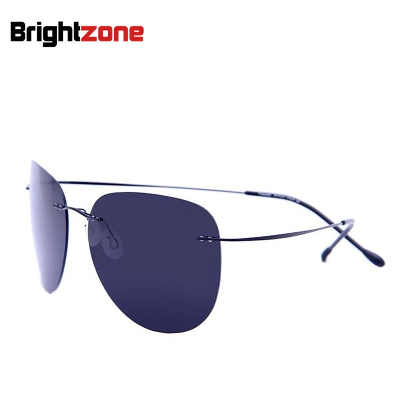 2018 Neue ultraleichte randlose Sonnenbrille Memory Pure Titanium Rim Polarized Sonnenbrille Classic e Große Sonnenbrille Eye Anti-UVA