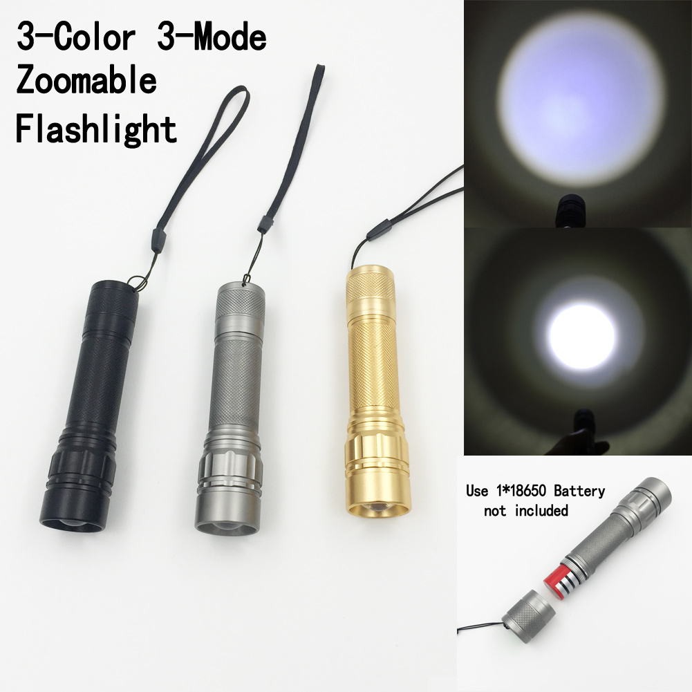 2000LM Aluminum LED Flashlight 3 modes Torch light Zoomable lantern camping light for Camping Hiking Cycling Torch Light kit 300 lumens led camping lamp light torch light flashlight 3 modes led camping light outdoor tent lantern for travel hiking