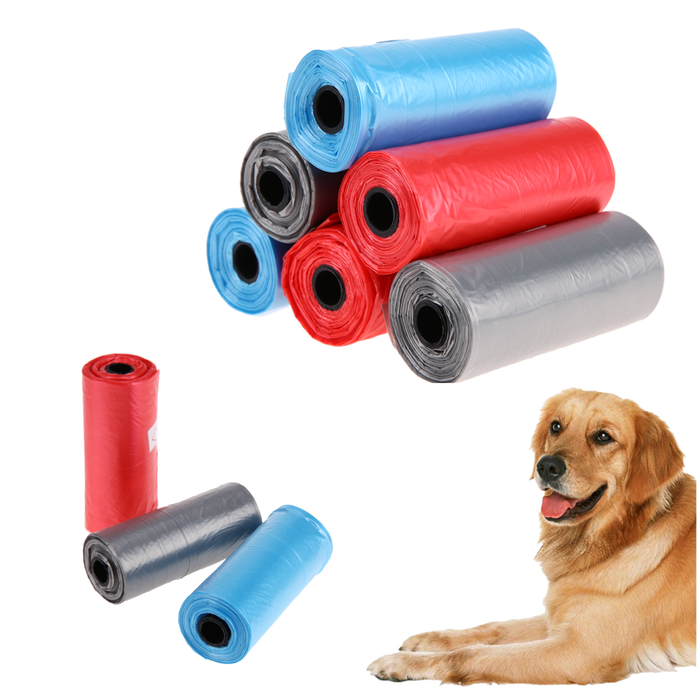 6pcs/set Pet Dog Poop Bags Cat Waste Pick Up Clean Garbage Bags Pets Dog Outdoor Waste Poop Bags