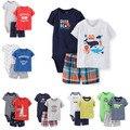 XY-069 Новый 2015 летняя одежда набор новорожденного мальчика одежда детская одежда устанавливает детская одежда набор, футболка + брюки