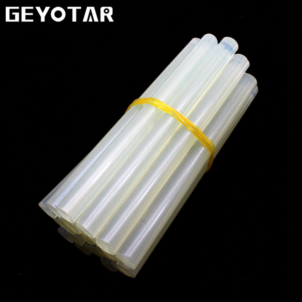 20Pcs/Lot  Clear Glue Adhesive Sticks for Hot Melt Glue Sticks 11mm X 130mm for Glue Gun Car Audio Craft Alloy Accessories glue sticks 15 lbs clear economy glue sticks 7 16 x 10 270 sticks