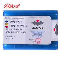 free shipping ZCC.CT 30pcs/box 3070511 YT5 YW2 YW1 YT15 YT14 YG6 YG8 carbide brazed inserts welding tips blade cutter