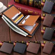 Fashion PU Leather Mens Purse Bifold ID Credit Card Holder Case Wallet Portable
