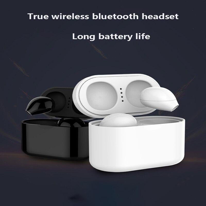 5.0 casque sans fil Bluetooth i7s mise à niveau D stéréo basse sport avec double Microphone pour tous les téléphones mobiles - 6