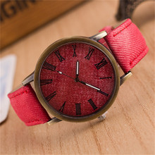 Prime luxurious Stable Colour Males Watches style Denims Leather-based MEIBO Quartz Wristwatch Girls Feminine Watch 2018 relogio feminino