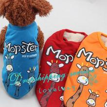 Pet Dog Clothes Three Deer Patterns Double Coat Small Dog Parkas 2016 New