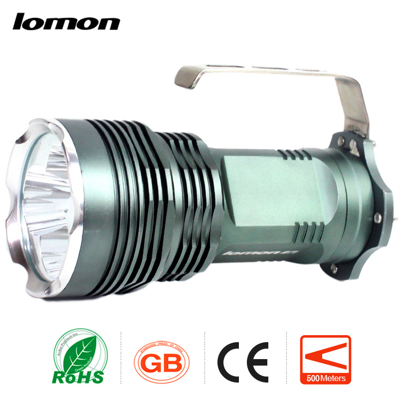 Rechargeabale Flashlight LED miner's Lamp Waterproof Searchlight Handheld Search Light+4 x Battery+Charger Portable Handy Torch high power led searchlight lantern built in battery handheld portable flashlight torch rechargeable waterproof hunting lamps