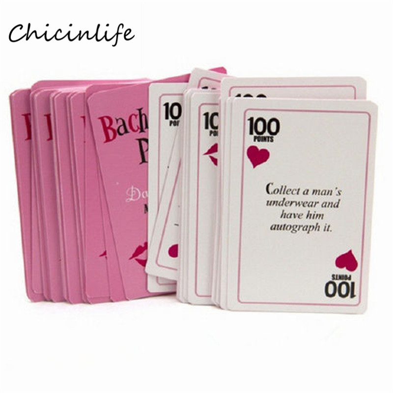 Chicinlife 1set Bachelorette Party Truth Or Dare Game