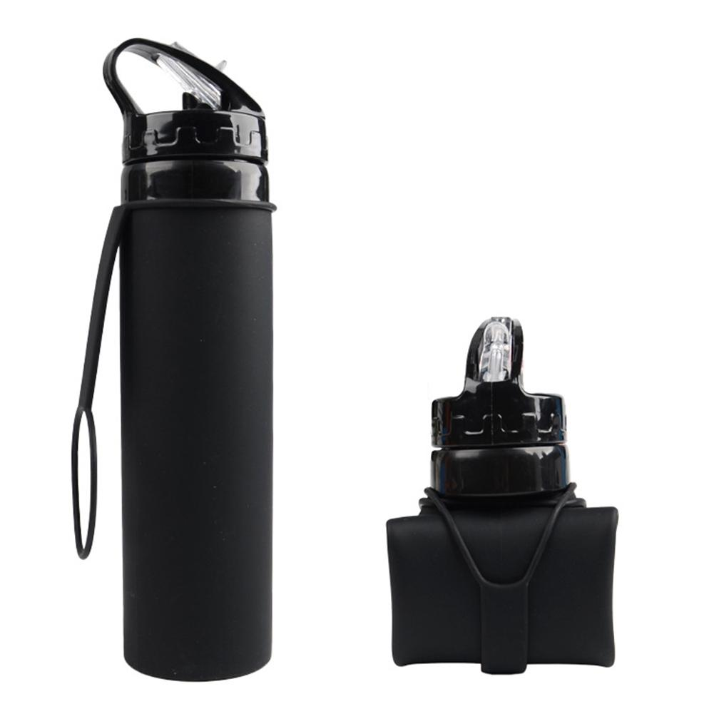 LumiParty 600ML Silicone Folding Bottle Outdoor Travelling Supplies Gift -40