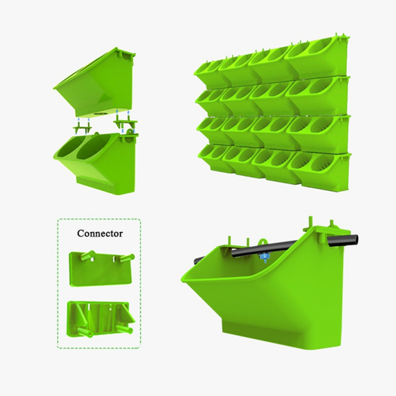 HTB1DTaDbizxK1RkSnaVq6xn9VXad - Modular Type Plant Wall Flower Pot Vertical Wall Hanging Green Flower Pot Garden Supplies