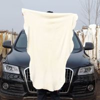90 60*90 Natural Shammy Chamois Leather Car Cleaning Towel Absorbent Leather Car Deer Towel Suede Sheepskin Drying Washing Cloth (4)