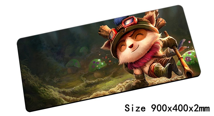 High quality Teemo mouse pad 90x40cm pad mouse lol notbook computer mousepad Swift Scout gaming padmouse gamer laptop mouse mats