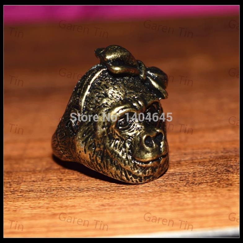 Antique Retro Cute Orangutan Monkey Gorilla Rings Lively Animal Jewelrys