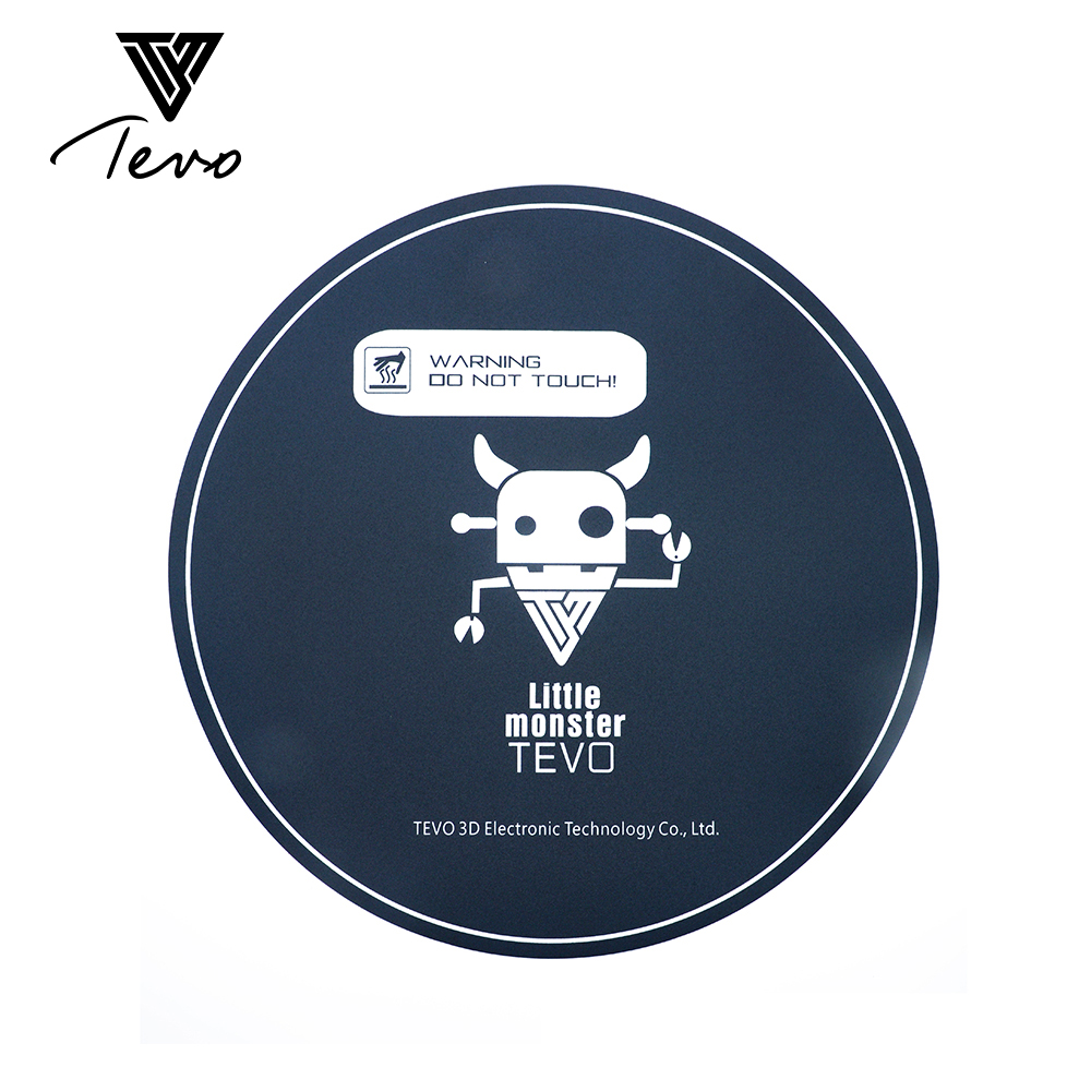 3D impresora TEVO Little Monster Delta heatbed pegatina 348mm etiqueta redonda especial arena gruesa aislamiento pc película