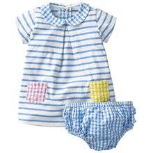 2018 Marke Baby Kleid Sommer Baby Mädchen Kleidung + Unterwäsche 100% Baumwolle Kinder Baby Kleidung für Neugeborene 6M-4T Geburtstag Party Kleid