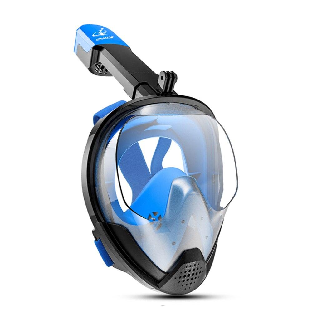 2019 nueva plegable arco de cara completa snorkel máscara de buceo natación subacuática entrenamiento de buceo para Gopro Cámara
