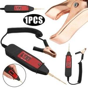 Image 2 - 1.65M Voorjaar Lijn Auto Digitale Lcd Elektrische Voltage Test Pen Probe Detector Tester Met Led Light Voor Auto testing Tool