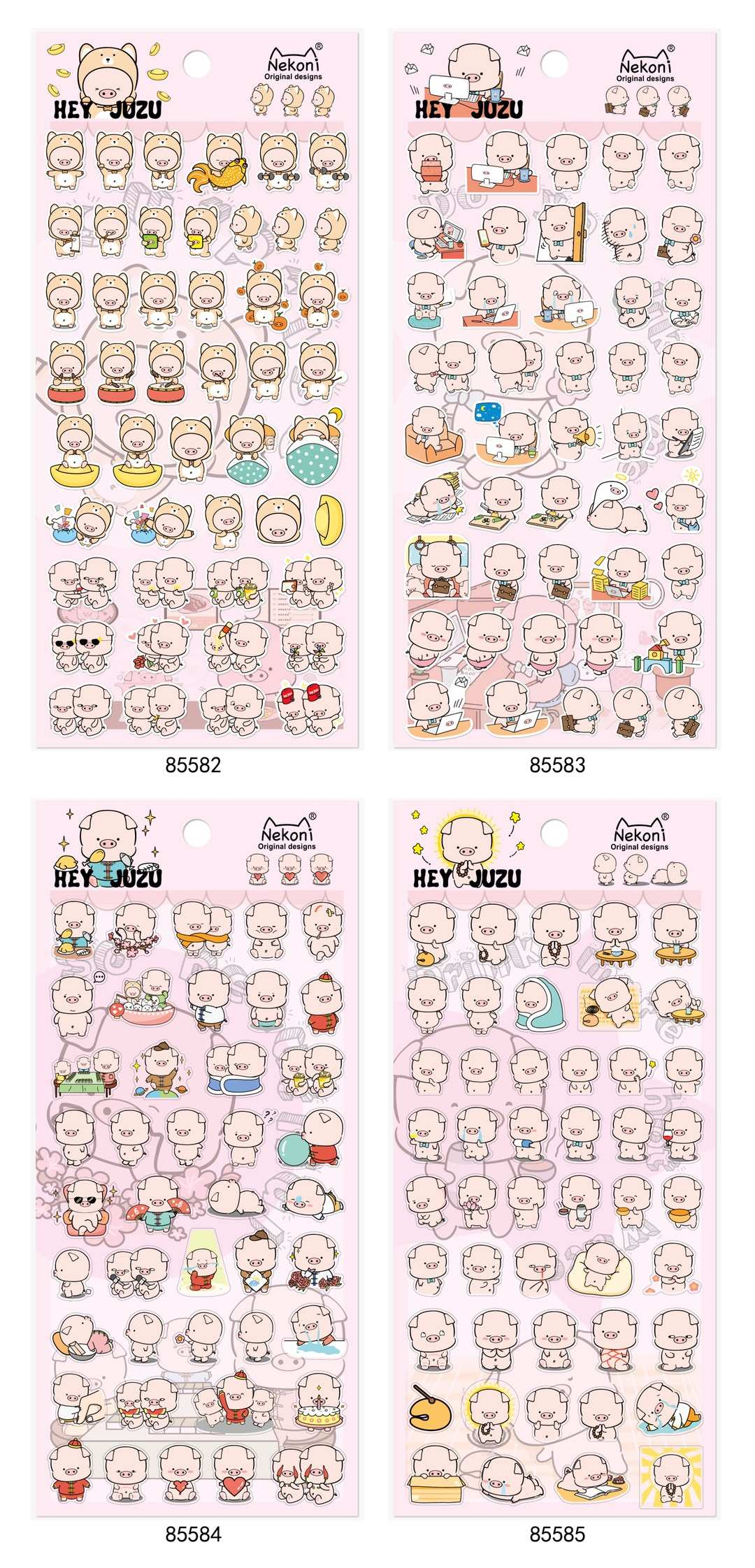 1set Cute Cartoon Pig Diary Planner Decorative Mobile Stickers Scrapbooking Craft Stationery Stickers