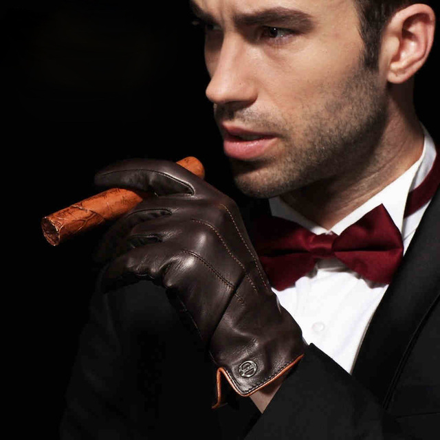 Genuine Leather Gloves Touchscreen 1