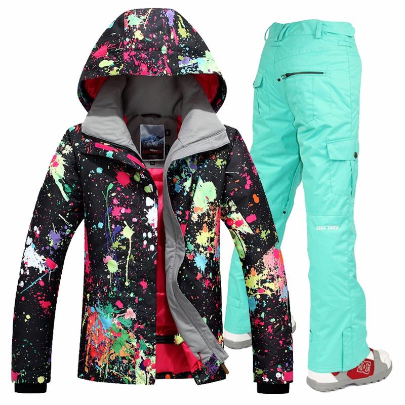 Gsou sněhová lyžařská kombinéza dámské lyžařské oblečení - Sportovní oblečení a doplňky