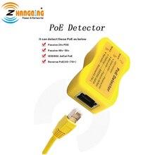 Detektor PoE szybko identyfikuje moc przez Ethernet; wyświetlacz wskazuje pasywny lub 802.3af/at; 24 v, 48v lub 56 v; również tryb B revers