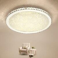 Холодный теплый белый пульт dimminm потолочный светильник современный светодио дный светодиодный Кристалл декор потолочный светильник для го